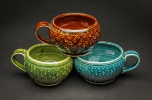Soup mugs by Polly Wellford