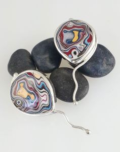 Fordite earrings by Julie Sanford