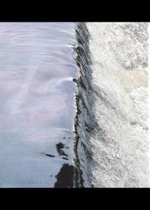 "Erwin P. Lewandowski - Falling Water XII - 17""x 18.5"" - Colored Pencil"