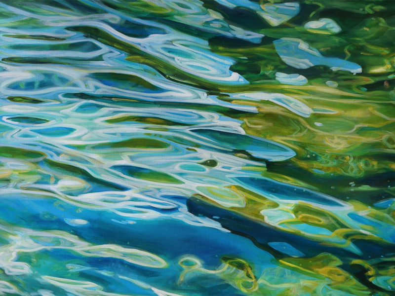 Water painting by Michelle Courier