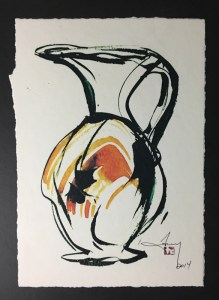 sketch of tony clennell's pitcher