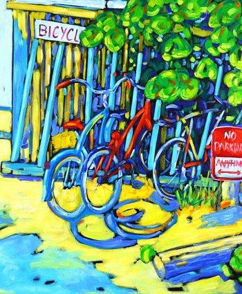 print of original painting no parking by christi dreese