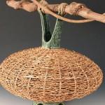 Stephen Kostyshyn Ceramic and Basket Vessel
