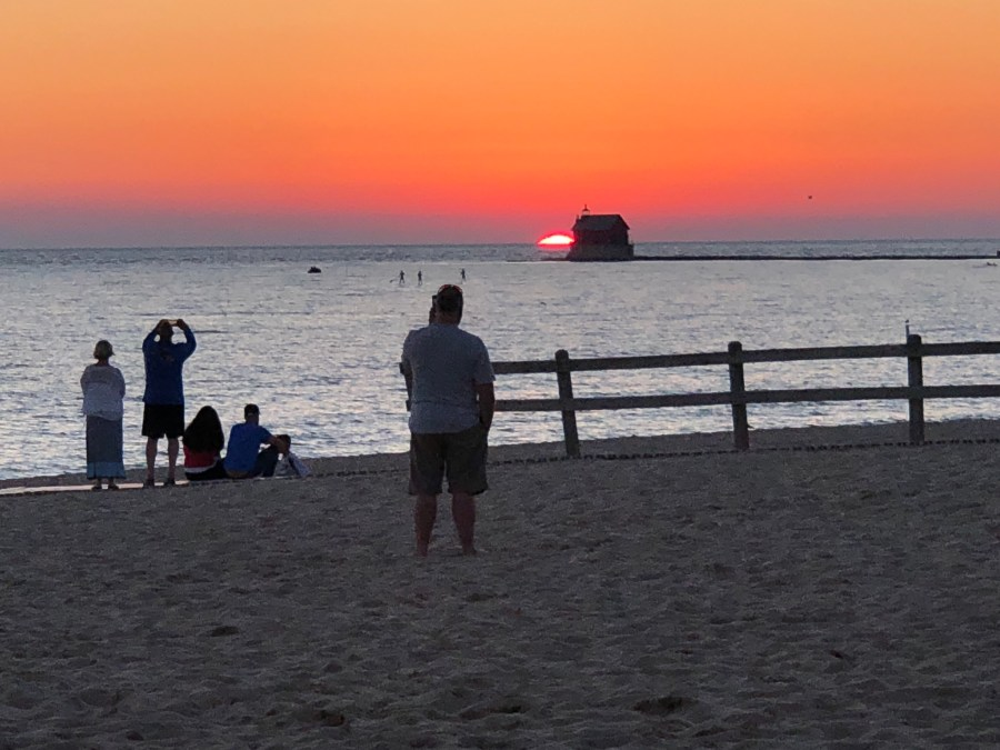 Sunset at Grand Haven State Park