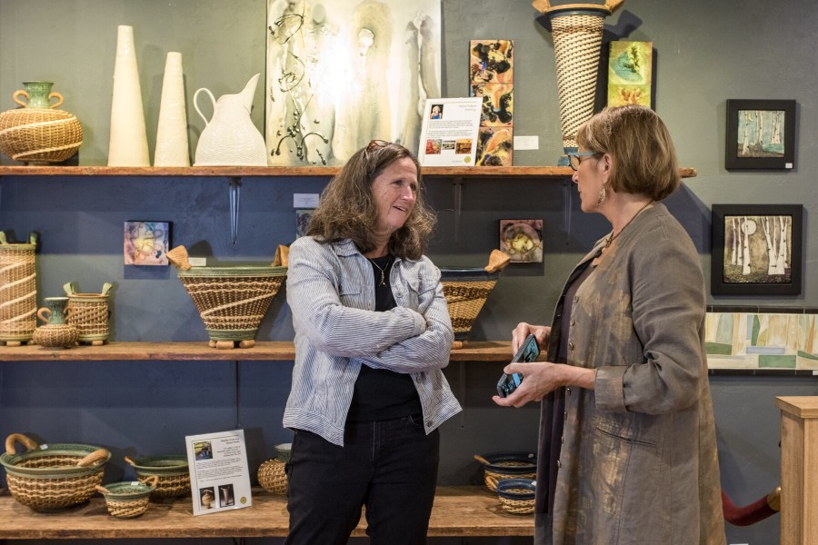 Ceramic Traditions with Julie Devers and Cyndi Casemier, First Friday ARt Hop Video