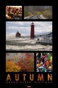 Autumn in Grand Haven poster
