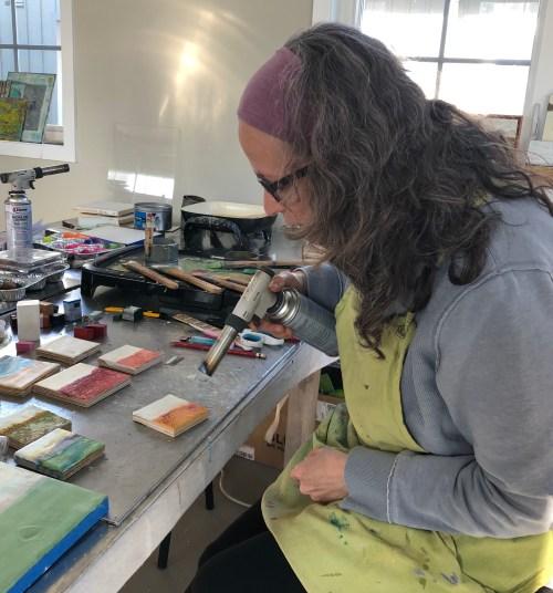 Ronna Alexander in her studio