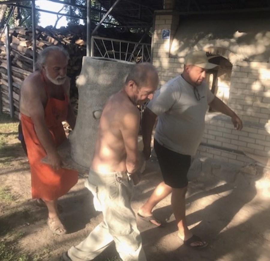 Loading the kiln in the Ukraine