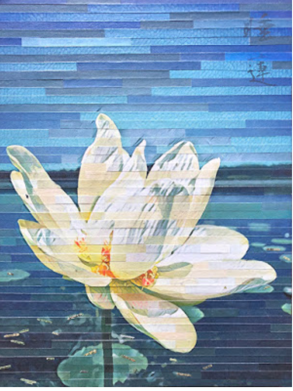 Water Lily wall art by Lori Reed