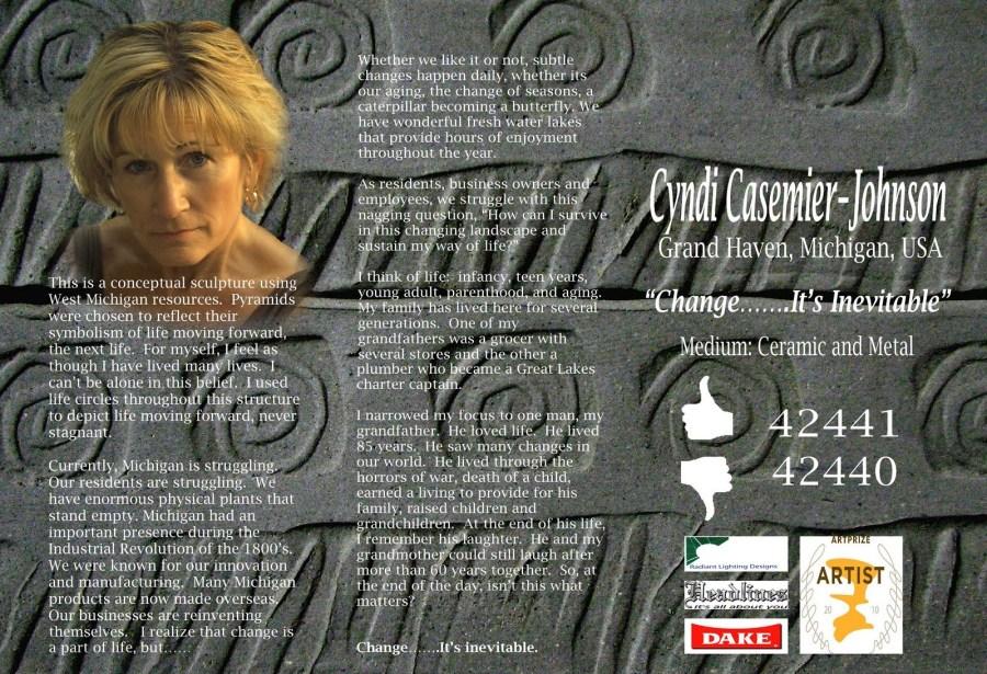 Artist Statement for ArtPrize 2010 entry by Cyndi Casemier