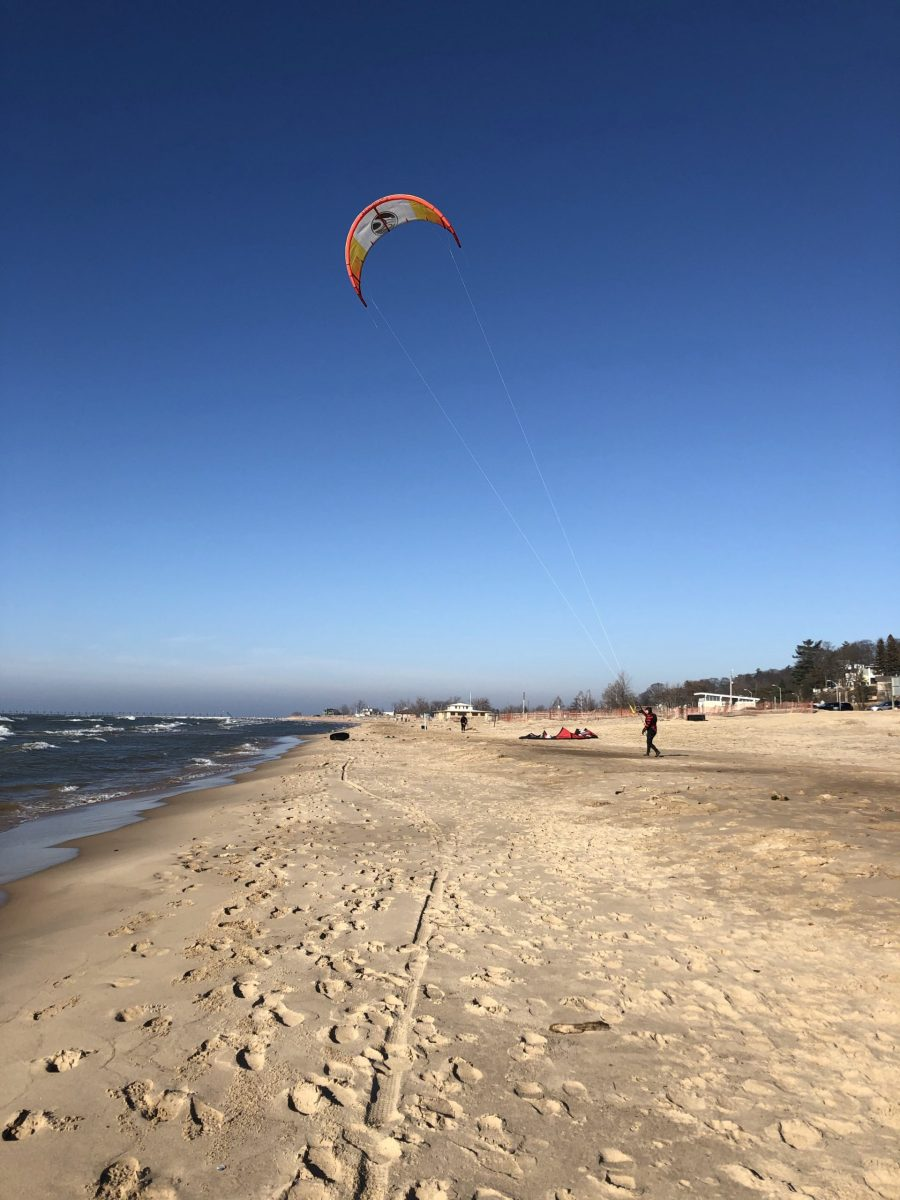 City beach grand haven michigan kiteboarding