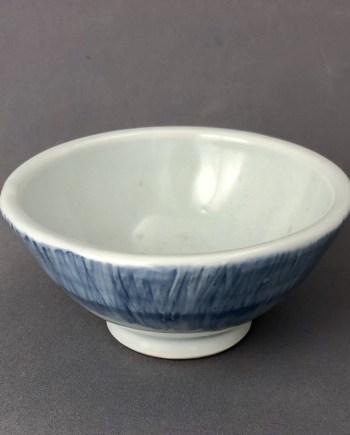 small blue ceramic bowl by cyndi casemier