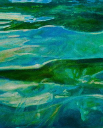 Green Water original acrylic painting by Michelle Courier