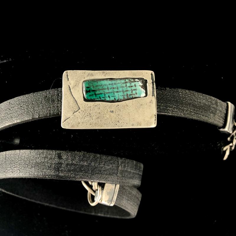 handmade faded black leather wrap bracelet by Julie Billups