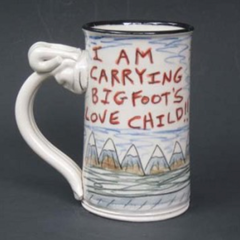 side view of big foot's love child mug by Tom Edwards
