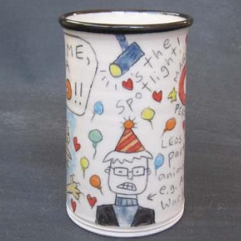 side view of Leo Mug by Tom Edwards
