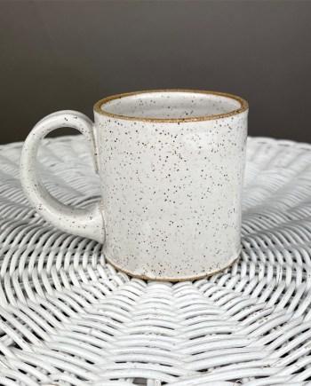 white handmade ceramic mug by schyler binkley