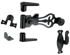 Accessoires espagnolette acier noir