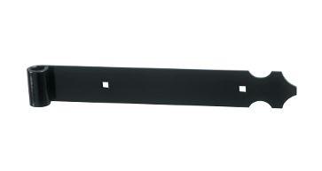 Pentures droite ALU noir Ø 14 mm