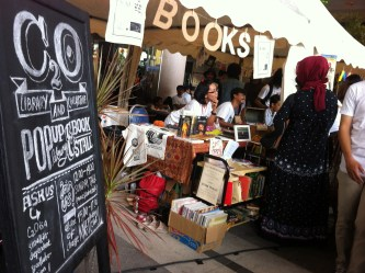 Pop-up library & bookshop at Sunday Market Surabaya