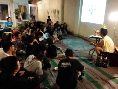 Talk by visiting Papermoon Puppet Theatre, 2013