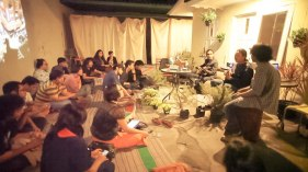 Piknik Akustik, co-organised with Kemarin Sore Radio, to break a fast, share food & music, 2012
