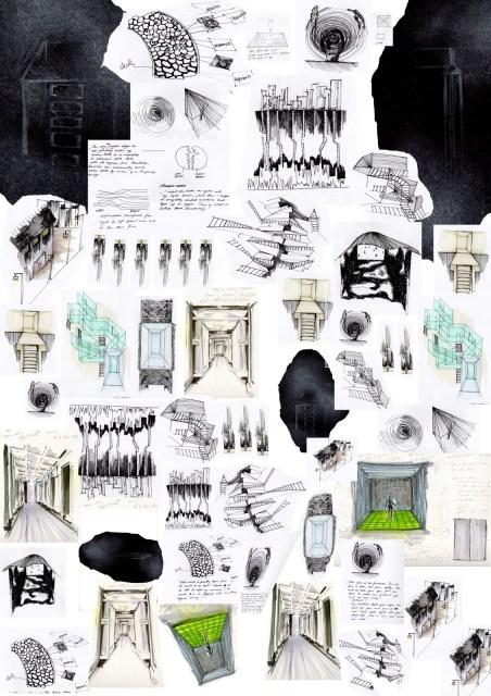The superb storyline illustration comes from http://isdfilmgroup3.blogspot.com/2011/03/haruki-murakami-hard-boiled-wonderland.html