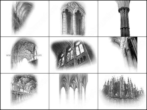 Architecture Gothic Photoshop Brushes Free  Photoshop
