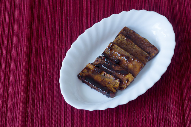 Bacon de tofu vegano
