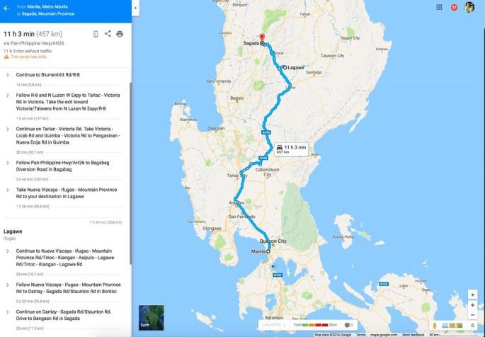 Manila to Sagada via Lagawe