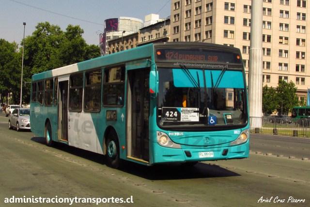 Transantiago 424 | Metbus | Caio Mondego H 13.2 - Mercedes Benz / FLXK34