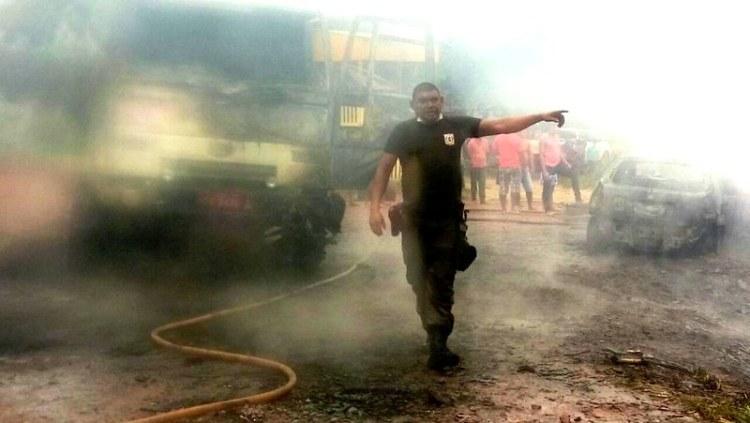 Incêndio destroi posto de combustível, casas e carros em Jardim do Ouro, Itaituba, fogo garimpo