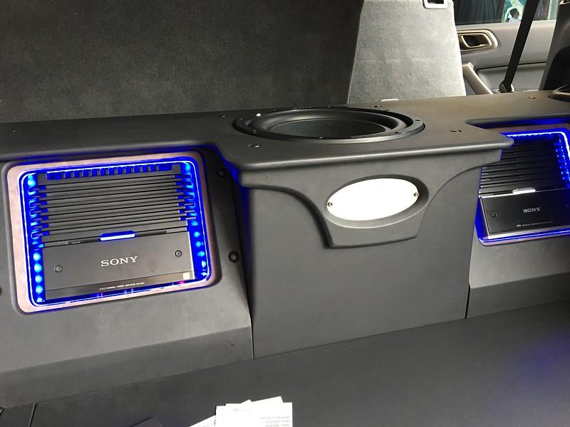 Rear car speakers