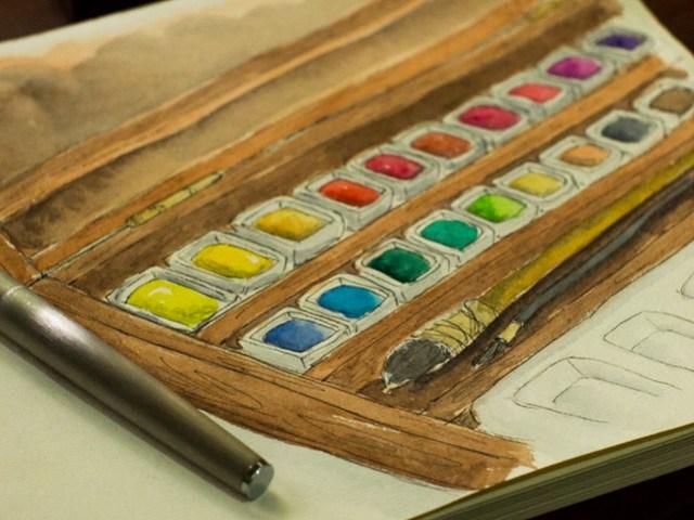 Sennelier 24-Color Walnut Set