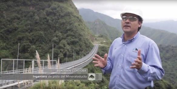 Benjamín Córdoba Ingeniero de pista del Mineraloducto Minera Alumbrera