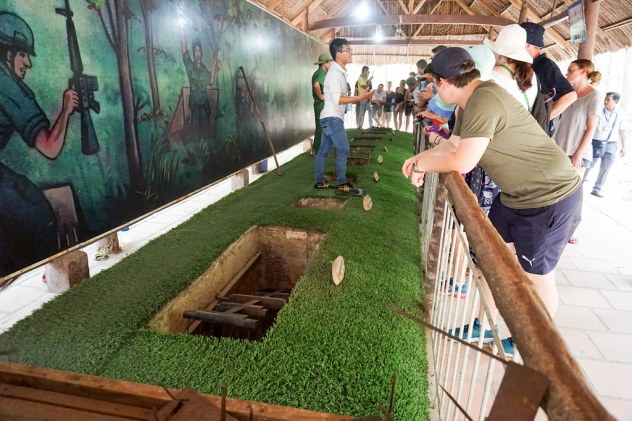 Booby Trap Displays at the Cu Chi Tunnels, Vietnam, April 2016.