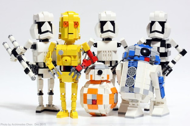 First Order stormtroopers & 3 Droids