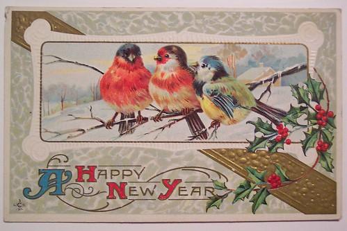 Vintage New Years Postcard Dave Flickr
