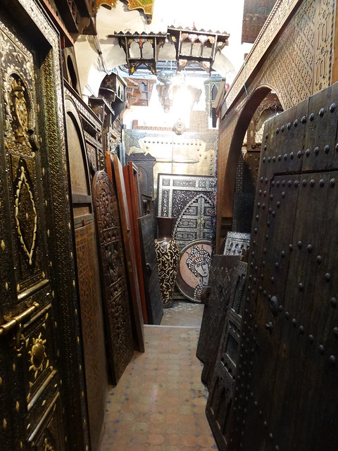 Inside a crafts market