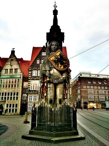 Patrimonio de la Humanidad en Europa y América del Norte. Alemania. Estatua de Rolando en Bremen.