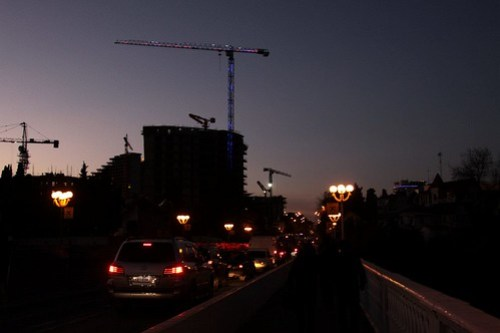 Tower cranes fill the skies over Sochi