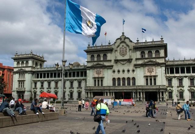 Guatemala City Plaza Flag