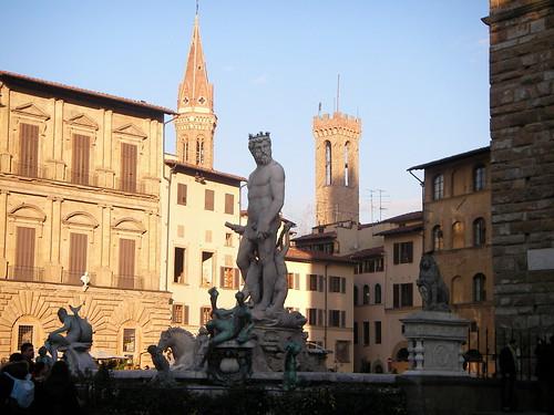 Fuente de Neptuno en la Piazza della Signoria. ViajerosAlBlog.com.