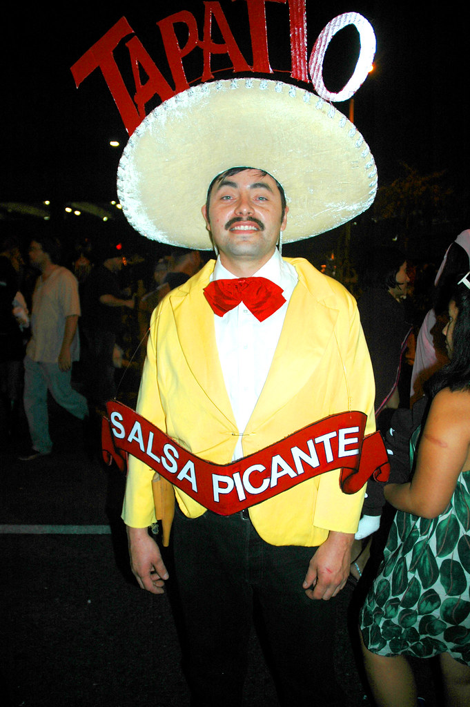 Tapatio Salsa Picante Halloween Costume at WeHo Halloween Carnaval