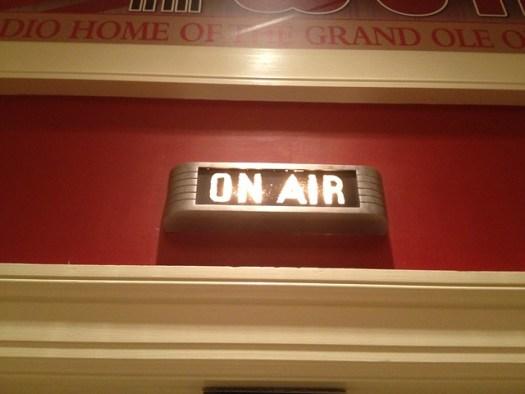 On Air Sign at WSM