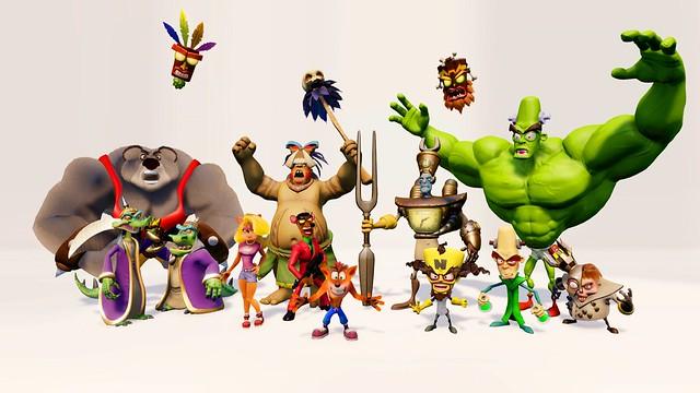 Crash Bandicoot N Sane Trilogy, Characters