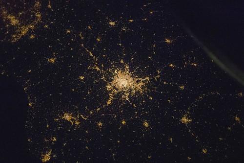 La France de nuit vue de l'espace