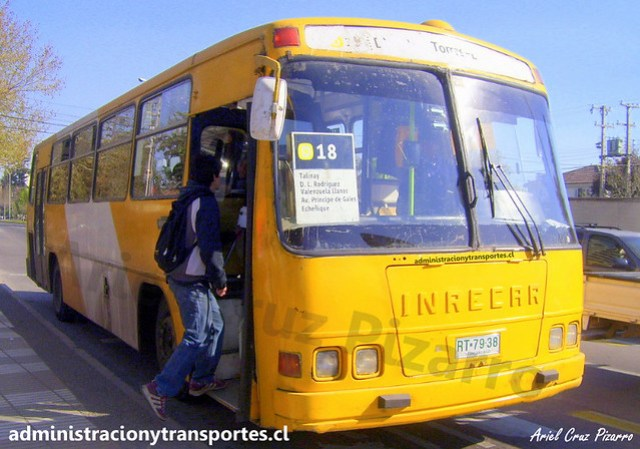Transantiago D18 | STP Santiago | Inrecar Sagitario - Mercedes Benz / RT7938