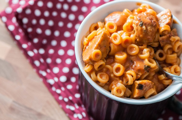 One Pot Spaghettios with Meatballs