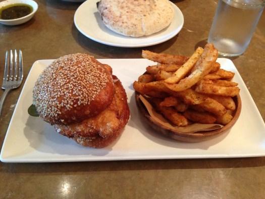Chicken Schnitzel Sandwich, Shaya, New Orleans LA